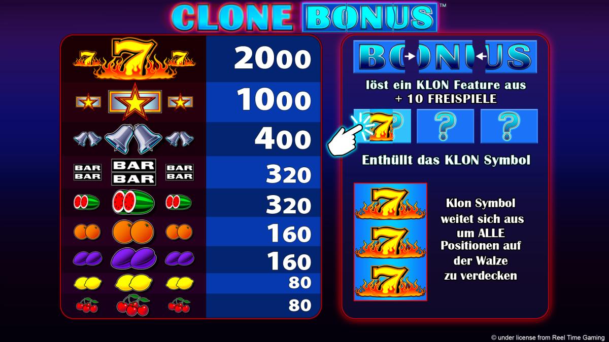 Clone Bonus Online Spielen